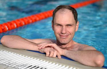 Man in a swimming pool