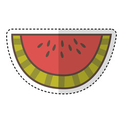 watermelon fresh fruit drawing icon vector illustration design