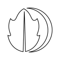 leaf plant ecology symbol vector illustration design