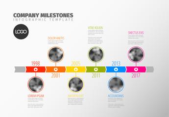 Colorful Company Milestones Infographic