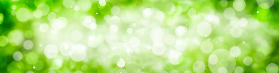 Grüner Hintergrund mit Bokeh Effekt