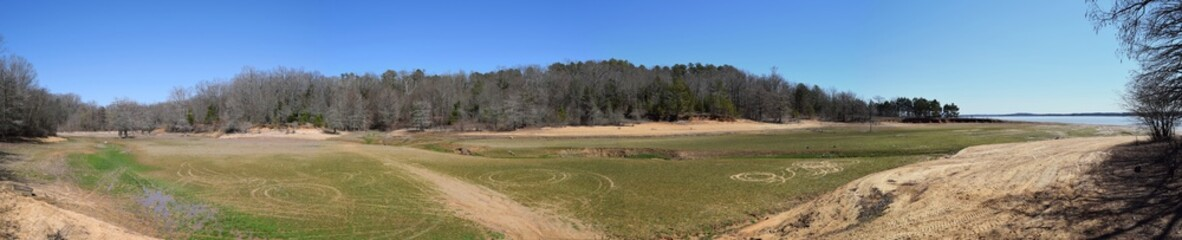 Dry lakebed at Enid Lake in Mississippi