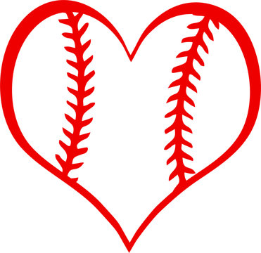 Baseball Heart with Laces