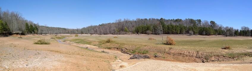 Dry Enid Lake in Mississippi