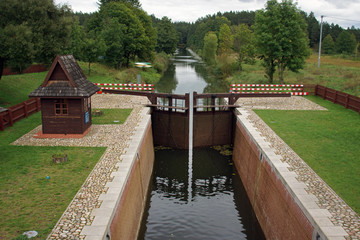 Lock at Augustow Canal, Poland