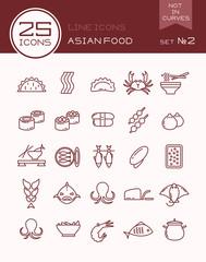 Line icons asian food set №2