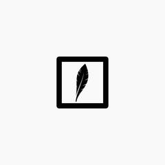 quill logo design, quill stock vector design
