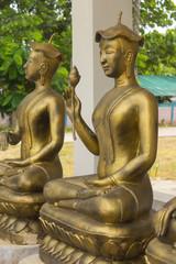Golden Upagupta statue, Thai Buddhist monk