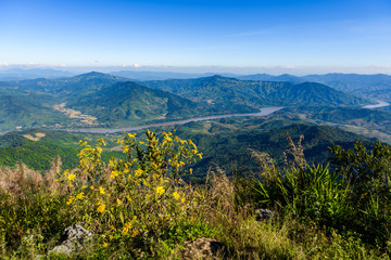 View from Doi Pha Tang viewpoint ,Chiang Rai province in Thailand.  beautiful location