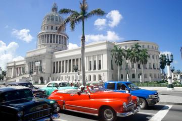 old classic American cars of Havana Cuba