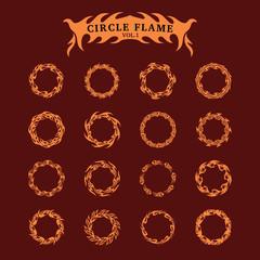 Circle Decorative Flame