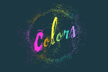 Rainbow Colors Lettering