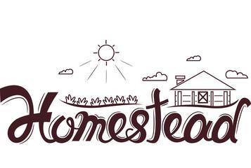 Homestead Logo Design Lettering