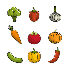 natural vegetable background icon