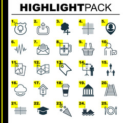 Set Of 25 Universal Editable Icons. Can Be Used For Web, Mobile And App Design. Includes Elements Such As Exit, Mocha, Read Message And More.