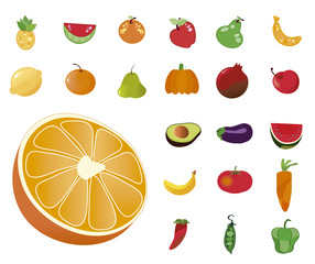 clip images fruit and vegetables