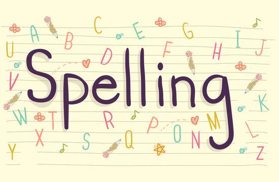 Spelling Letter Doodles Paper
