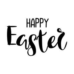 Inscription - Happy Easter. Lettering design. Handwritten typography. Vector