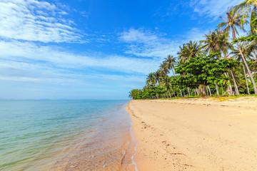 Tropical Thong Tanod Beach on Koh Samui in Thailand.