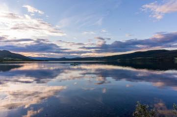 Romantic lake landscape in europe