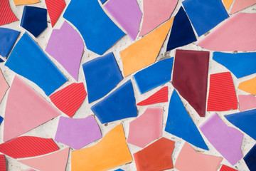 Abstract of colorful cracked mosaic texture as background