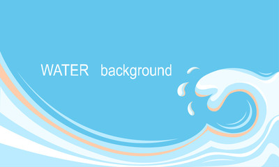 Water splash background for text