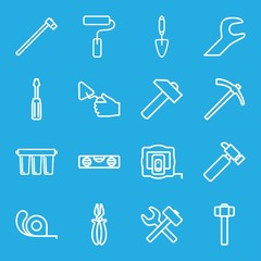 Set of 16 repair outline icons