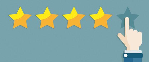 Hand 5 Stars Rating