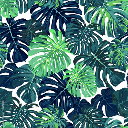 green palm leaves summer - photo #16