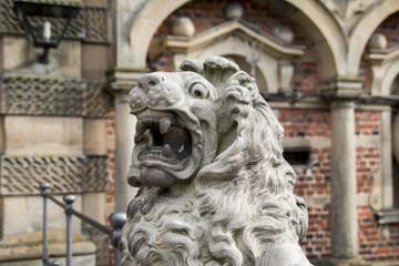Lion statue in Friederiksborg castle