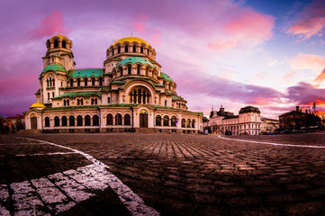 Alexander Nevsky Cathedral in Sofia city Bulgaria Wall mural