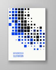 Halftone illustrator. Orange color Brochure.