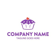 Cake And Cookies Unique Logo Template