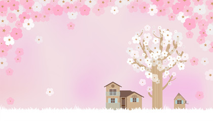 Cherry blossoms in pink B