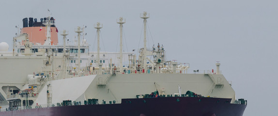 GAS CARRIER - big tanker to transport gas in close-up