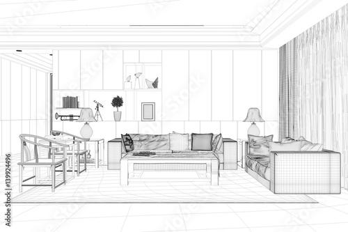 Cad modell von wohnzimmer im raumplaner for Wohnzimmer raumplaner