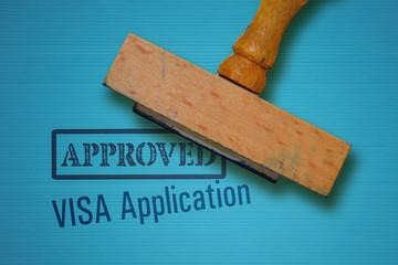 Visa application and stamp