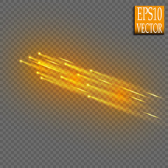 Abstract vector magic glow star trail light effect with neon   Special white and golden  effect on transparent background