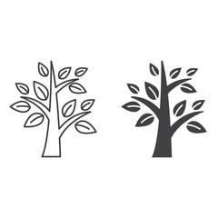 Tree line icon, outline and filled vector sign, linear and full pictogram isolated on white, logo illustration