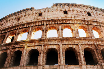 The iconic ancient Colosseum of Rome