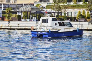 Service Yachts on the Bosphorus, Istanbul, Turkey.