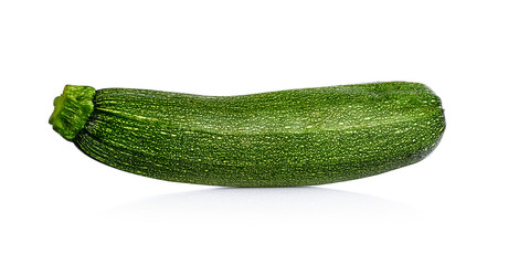 Fresh cutted zucchini isolated on a white background. Design element for product label.