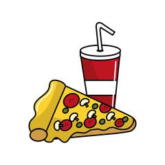soda and pizza background icon