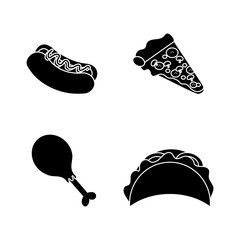 contour fast food background icon