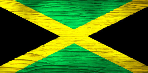Flag of Jamaica on Concrete