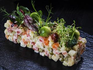 Vegetarian salad olivier