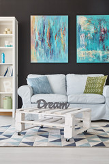 Room with white furniture