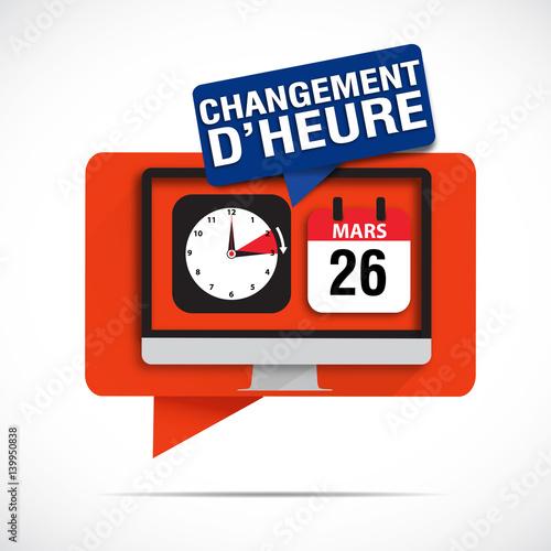 Bulles cran changement d 39 heure 26 mars 2017 stockfotos und lizenzfreie vektoren auf fotolia - Changement heure d hiver 2017 ...