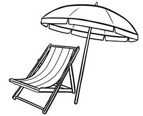 Sonnenschirm clipart gratis  Bilder und Videos suchen: strichzeichnung