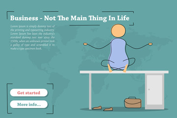 Business Not The Main Thing In Life - banner
